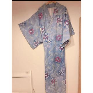 有松鳴海絞り浴衣 美しいスカイブルー(浴衣)