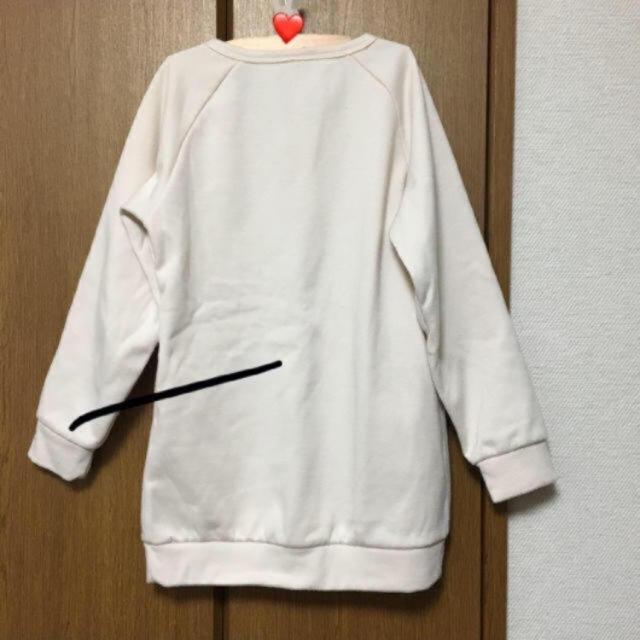 しまむら(シマムラ)の裏起毛トレーナー130〜140 キッズ/ベビー/マタニティのキッズ服 女の子用(90cm~)(Tシャツ/カットソー)の商品写真
