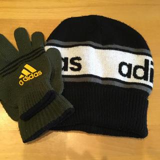 アディダス(adidas)のアディダス ニット帽 手袋セット(ニット帽/ビーニー)