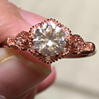 半額以下‼️ アンティーク調のミル打ちピンクゴールドカラーリング(リング(指輪))