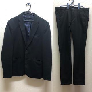 ザラ(ZARA)のZARA ジャケット パンツ セットアップ黒(セットアップ)