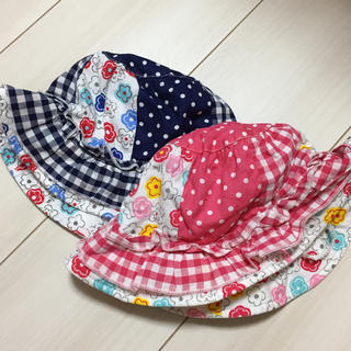 キッズフォーレ(KIDS FORET)のKIDS FORET 女の子用 帽子 2枚セット まとめ売り 1歳 2歳(帽子)