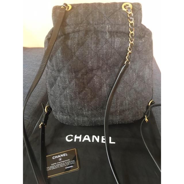 b0b40a59c1f4 CHANEL(シャネル)のタイムセール♡CHANEL 正規品 デニムリュック レディースのバッグ