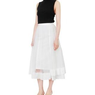 ルシェルブルー(LE CIEL BLEU)のルシェルブルー チュールスカート 未使用(ひざ丈スカート)