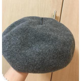カシラ(CA4LA)のCA4LA グレー ベレー帽 日本製(ハンチング/ベレー帽)