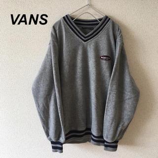 ヴァンズ(VANS)の90s VANS ロゴ刺繍 フリース スウェット トレーナー 古着 メンズ (スウェット)