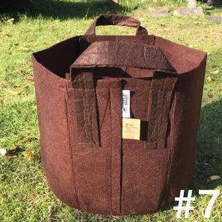 ルーツポーチrootpouchアメリカのトート型エコ植木鉢7ガロン☆ブラウン(プランター)