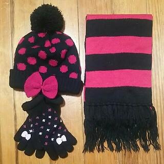 シマムラ(しまむら)の小物3点セット(帽子)