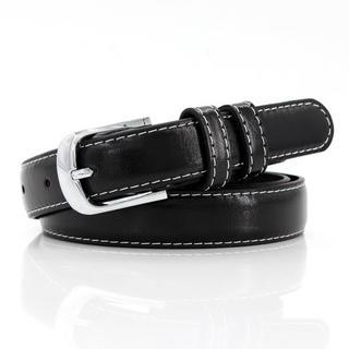 ザラ(ZARA)のシンプル シルバーバックル ライン カジュアル ファッション レザーベルト(ベルト)