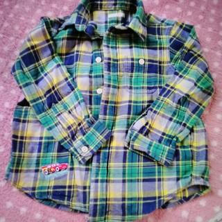 ジーユー(GU)の美品 GU チェックシャツ サイズ110(ブラウス)
