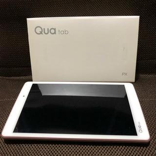 エルジーエレクトロニクス(LG Electronics)のQua Tab PX ピンク 8インチ防水タブレット SIMフリー 中古(タブレット)
