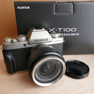 フジフイルム(富士フイルム)の🌟新品同様🌟富士フイルム X-T100 レンズキット(ミラーレス一眼)