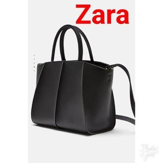 ザラ(ZARA)の2  way ZARAコントラストトートバッグハンドバッグショルダーバッグ(ハンドバッグ)