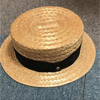 ハット 麦わら帽子 カンカン帽(麦わら帽子/ストローハット)