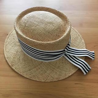 ドゥロワー(Drawer)のmomo様専用 chapeaud'O リボン  カンカン帽   (麦わら帽子/ストローハット)