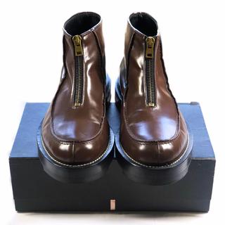 マルニ(Marni)のMARNI 15aw ブーツ 43 ジップアップ アンクル 茶 センタージップ(ブーツ)
