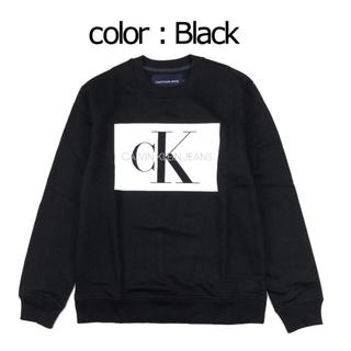 カルバンクライン(Calvin Klein)の新品 カルバンクライン トレーナー ブラック  グレー(スウェット)
