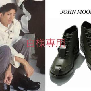 ワンオクロック(ONE OK ROCK)の新品 ジョンムーア コンバットブーツ トゥジュー ウールシャツ(ブーツ)