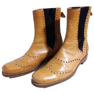 ジンターラ(Zintala)のジンターラ ZINTALA サイドゴア ブーツ 40 茶 シルヴァノラッタンジ(ブーツ)