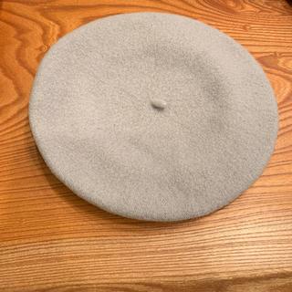 ナノユニバース(nano・universe)のベレー帽 ライトグレー ナノユニバース ほぼ新品(ハンチング/ベレー帽)