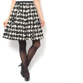 アンドクチュール(And Couture)のアンドクチュール 千鳥スカート(ひざ丈スカート)