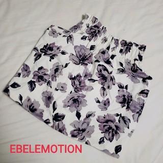 エベルモーション(EBELE MOTION)のEBELEMOTION 花柄タイトスカート(ミニスカート)