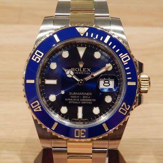 ロレックス(ROLEX)のマウス様の ロレックス サブマリーナ コンビ 青サブ ブルー 時計 メンズ(腕時計(アナログ))
