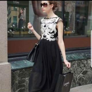 ザラ(ZARA)の刺繍ロングドレス(ロングドレス)