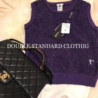 ダブルスタンダードクロージング(DOUBLE STANDARD CLOTHING)の新品♡ダブルスタンダード♡レース刺繍36(カットソー(半袖/袖なし))