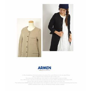 アーメン(ARMEN)のARMEN  ノーカラー キルティングコート(ロングコート)