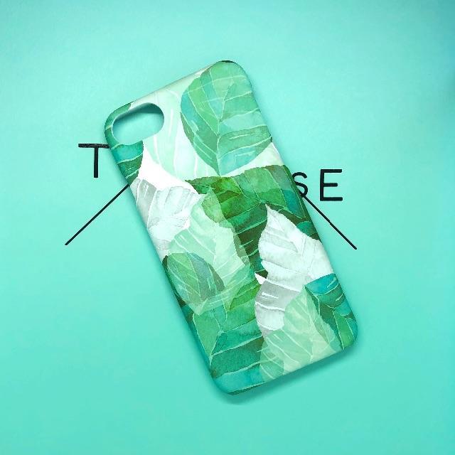 MOBILSKAL | 北欧デザイン iPhoneケース ( 水彩風リーフ )の通販 by BAYHOUSE52|ラクマ
