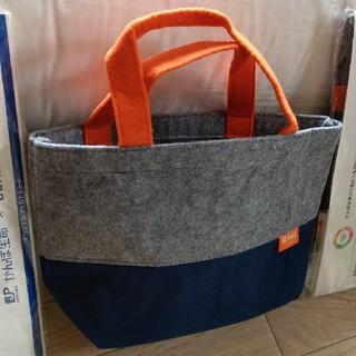 ビームス(BEAMS)の11個 ビームス トート ハンドバッグ  手提げ グレー ネイビー フェルト(ビジネスバッグ)