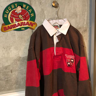 バーバリアン(Barbarian)の【80's 90's古着】バーバリアン BARBARIAN ラグビーシャツ(シャツ)