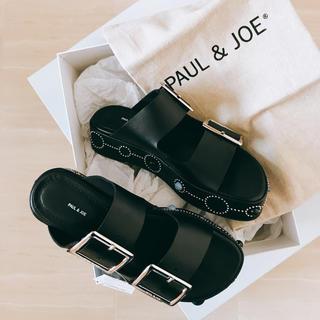 ポールアンドジョー(PAUL & JOE)の【PAUL&JOE】スタッズ サンダル ※タグ付き、室内試着のみ(サンダル)