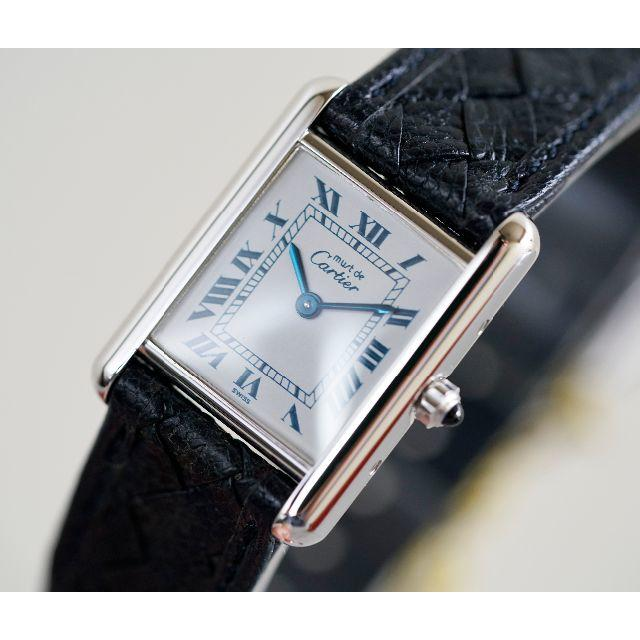 timeless design 865cb 145a6 専用 美品 カルティエ マスト タンク シルバー ブルーローマン SM | フリマアプリ ラクマ