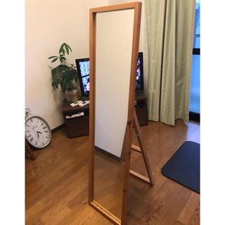 ムジルシリョウヒン(MUJI (無印良品))の姿見  鏡 無印良品 全身 かがみ(スタンドミラー)