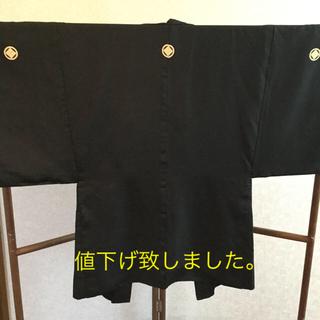 男羽織  家紋  お城  羽織リメイク  リメイク素材  ハンドメイド(着物)