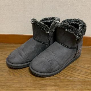 シマムラ(しまむら)のハリスツィード ショートブーツ ムートンブーツ(ブーツ)