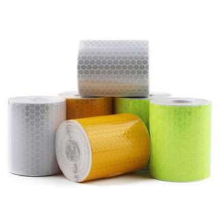 反射 テープ 6本入 高輝度 白 イエロー 蛍光緑 300cm×5cmm-b88(その他 )