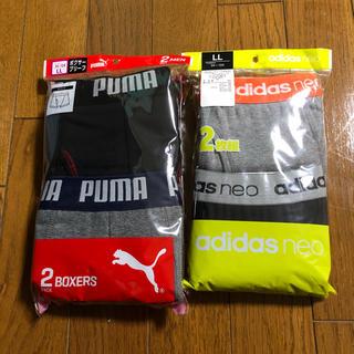 アディダス(adidas)の値下げ  アディダス&プーマ ボクサーパンツ 2枚 x2セット  (ボクサーパンツ)