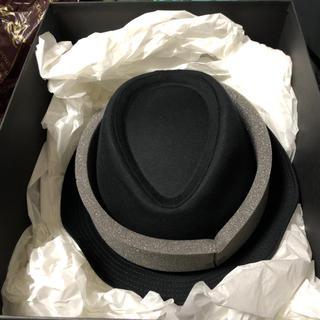 ディオールオム(DIOR HOMME)のディオールオムコットン帽子ハット黒新品未使用(ハット)