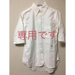 マディソンブルー(MADISONBLUE)のロンハーマン コラボ マディソンブルー 白BDシャツ 01サイズ(シャツ/ブラウス(長袖/七分))