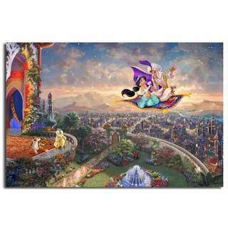 ディズニー(Disney)の【新品未使用】アートポスター アラジン 額付き 送料込み(アート/写真)