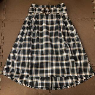 シマムラ(しまむら)のチェック柄 膝丈スカート M(ひざ丈スカート)