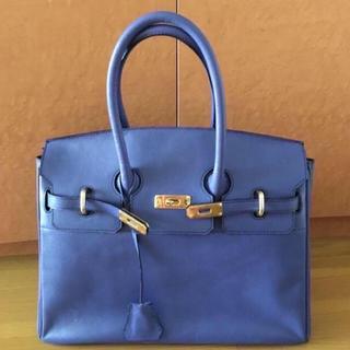 ミケランジェロ ウォーモ バーキン型 ハンドバッグ ロイヤルブルー(ハンドバッグ)