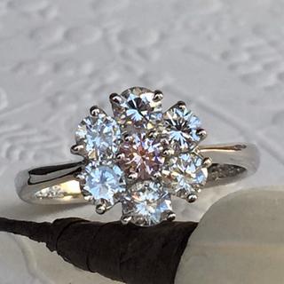 Mimi様♡専用です  PT900  花笑み ピンクダイヤモンド フラワーリング(リング(指輪))