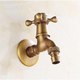 レトロ アンティーク 真鍮 蛇口 水栓 ガーデニング DIY 水道 じゃぐち