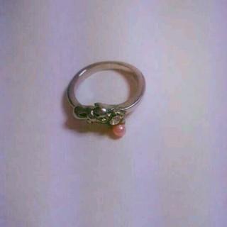 ピンク リボン パール リング(リング(指輪))