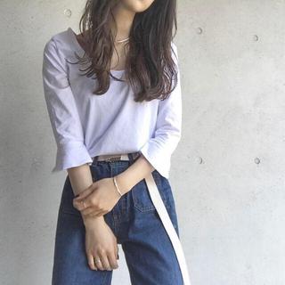 ザラ(ZARA)のZARA 袖フリル付きトップス(Tシャツ(長袖/七分))