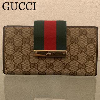 bb6c324e37b5 グッチ(Gucci)のGUCCI グッチ シェリー GG キャンバス 大容量 長財布 男女兼用